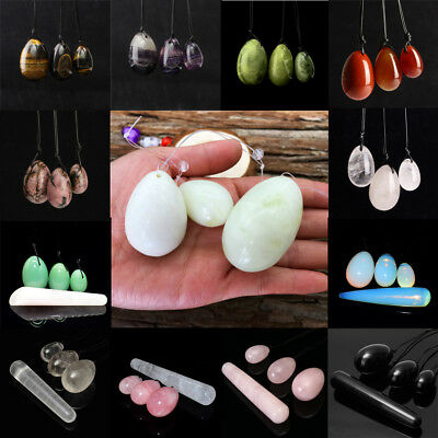 4PCS Natural Fluorite Women Jade Stone Yoni Vaginal Exercise Tightening Eggs