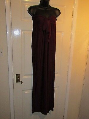 Brand New - BURGUNDY MAXI DRESS - UK Size 10 / 12
