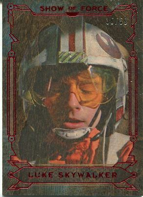 Star Wars Masterwork 2016 Show Of Force Wood Chase Card SF-1