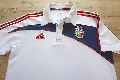 BRITISH LIONS adidas SOUTH AFRICA 2009 RUGBY UNION POLO SHIRT TOP MEDIUM