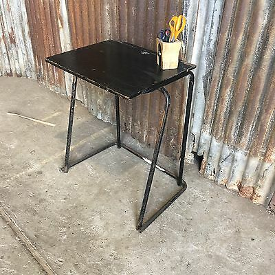 Vintage School Stacking Exam Desk, Single, Laptop Table Cafe Retro 5 Available