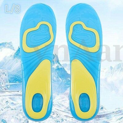 Active Gel Mens Insoles Work Walking Sports Extra Comfort Shock Absorption S L