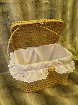 New Traditional Layette Basket Romany Style Nappy Box Baby Storage