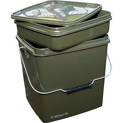 Trakker NEW 13lt Square Heavy Duty Carp Fishing Bait Bucket  Free P+P