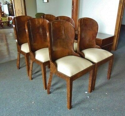 Superb set of SIX Art Deco style Rosewood chairs