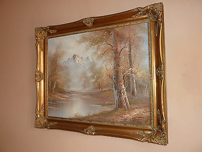 Stunning Original Oil On Canvas Landscape Painting SIGNED