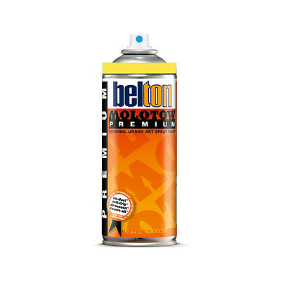 Molotow : Belton Premium Spray Paint : 400ml : Zinc Yellow 002 : By Road Parcel