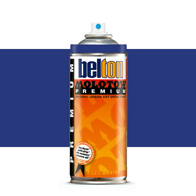 Molotow : Belton Premium Spray Paint : 400ml : Navy Blue 102 : By Road Parcel On