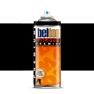 Molotow : Belton Premium Spray Paint : 400ml : Deep Black 221 : By Road Parcel O