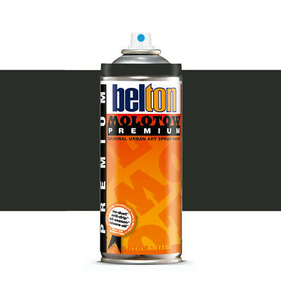 Molotow : Belton Premium Spray Paint : 400ml : Black Grey Dark 222