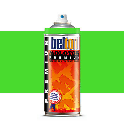 Molotow : Belton Premium Spray Paint : 400ml : Neon Green 236 : By Road Parcel O