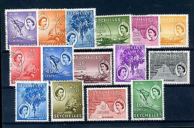 Seychelles  1954  Set of 15  SG 174/188  fine-used    (J274)