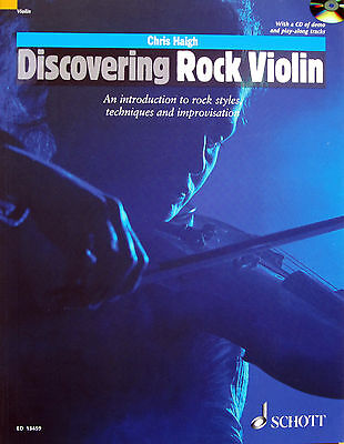 DESCOVERING ROCK VIOLIN Introductions to Rock Styles Techniques & Improv Book/CD
