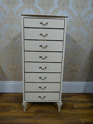 Pretty Vintage Louis III french style extra tall chest of  8 drawers