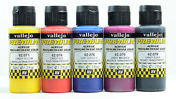 AV Premium Airbrush Paint : Candy 5 Colours Set