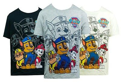 Boys Paw Patrol Chase Marshall Rubble Puppy Dog T-Shirt Cotton Top 2 to 8 Years
