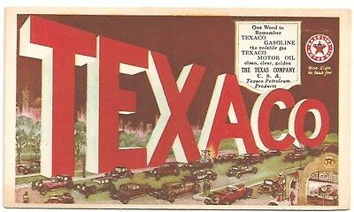 "1930's TEXACO OIL & GAS ADVERTISING BLOTTER ""THE TEXAS COMPANY U.S.A."""