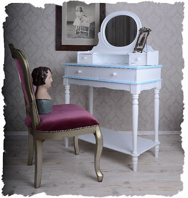 Playful Romantic Shabby Chic Dressing Table Vintage Mirror Console