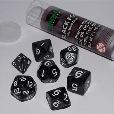 Blackfire Dice - 16mm Role Playing Dice Set (7 Dice / Würfel) NEU&OVP