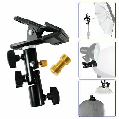 Photo Studio Swivel Light Stand Reflector Disc Background Holder Clip Clamp S1N2