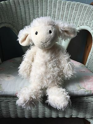 Jellycat Medium Lily Lamb Soft Hug Toy Comforter Soother Cream Fluffy Long Hair