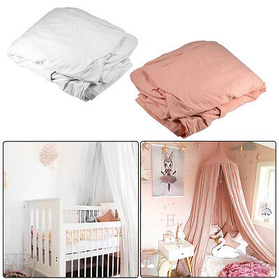 Cotton Canopy Bed Netting Mosquito Bedding Net Play Tent Pink/White for Baby Kid