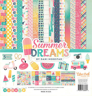 Echo Park Summer Dreams (1) 12X12 Scrapbook Collection Pack Kit