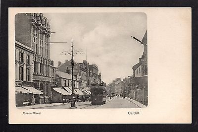 Cardiff - Queen Street - printed postcard