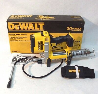 DEWALT DCGG571B NEW 20V 20 Volt Max Li-Ion Grease Gun Tool Only New In Box