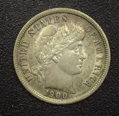 1900-S Barber Silver 10 Cents  Choice Uncirculated
