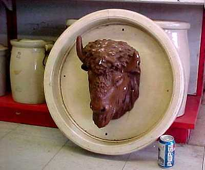 Antique Architecture Buffalo Head from Nebraska State Fair Building Lincoln OLD