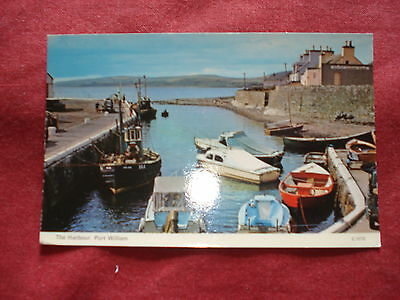 VINTAGE SCOTLAND: PORT WILLIAM harbour colour BOATS 1976