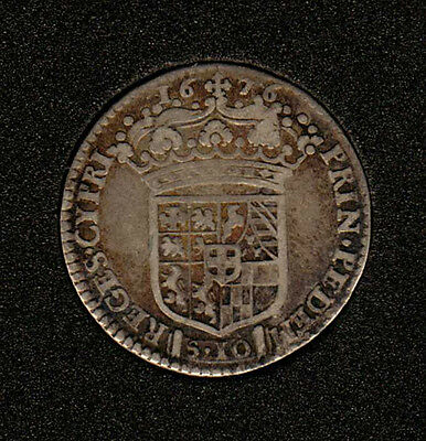 1676. Italia Sardaigna - 1/2 Lira -  '  Beautiful Gold Toning  '