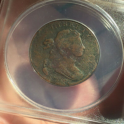1798 Draped Bust Large Cent - ANACS  F12 Details
