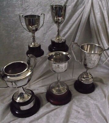 Job Lot Of Silver Plate Vintage Classic Trophy / Cups
