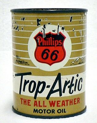Miniature Phillips 66 Trop Artic Oil Can Coin Bank