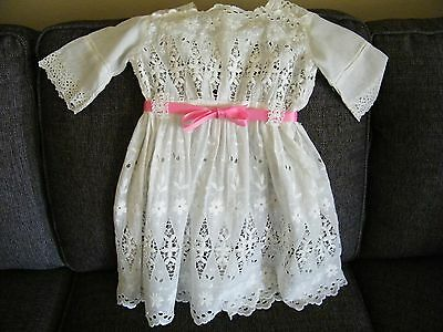 Vintage Antique Christening Dress For Baby Or Large Doll See Discription