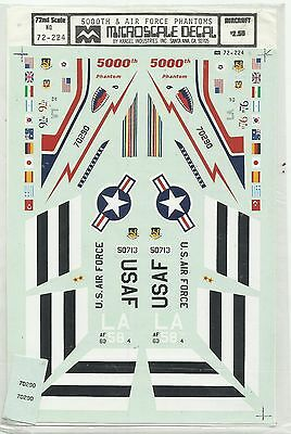 Microscale Superscale 72-224 F-4 Phantom USAF decals in 1:72 Scale