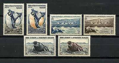 Tierras Australes, France, Penguins And Seals $ Local Motives, 1956, (Wwf)