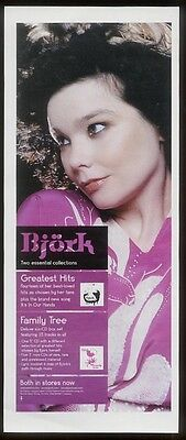 2002 Bjork photo Family Tree album release vintage print ad