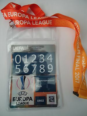 Personal Pass & Keyholder UEFA EL Finale 2017 Ajax Amsterdam - Manchester Utd #2
