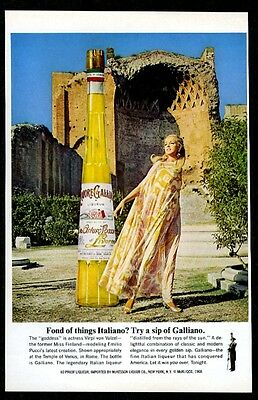 1968 Miss Finland in Pucci dress photo Galliano liqueur vintage print ad