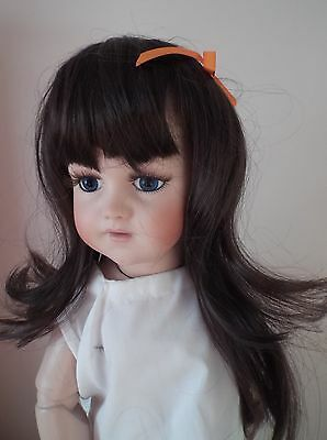 BUY I GET ONE FREE  11-12 inch ECONOMY LONG DOLLS STRAIGHT WIG  DARK BROWN