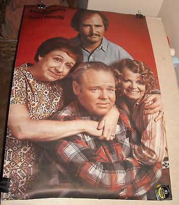 VINTAGE 1972 ALL in the FAMILY BUNKERS CAST PHOTO TV series  POSTER 24 x 35.5