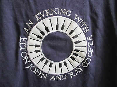 1994 An Evening With Elton John And Ray Cooper Concert Tour T-Shirt Mens Xl