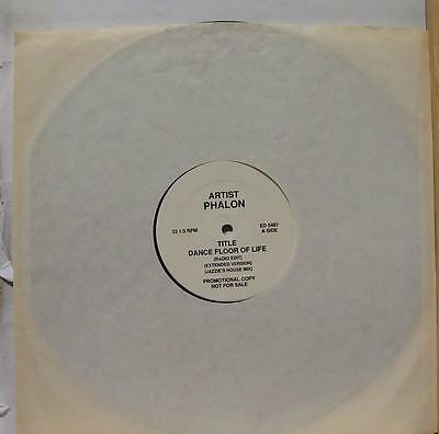"Phalon - Dance Floor Of Life 12"" VG+ ED 5481 Promo Rap Vinyl 1990 Record"