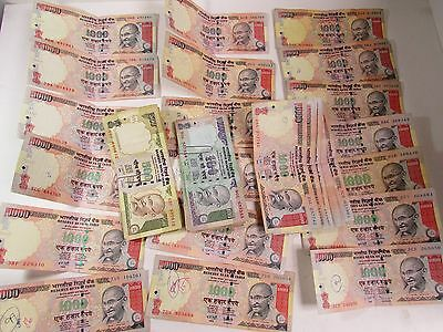 $33,000 Rupees India Face Value Banknotes Paper Money Currency Lot Collection