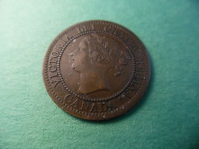 1859 Canada Cent. Old Canadian large cent. Amazing condition! Old penny K196