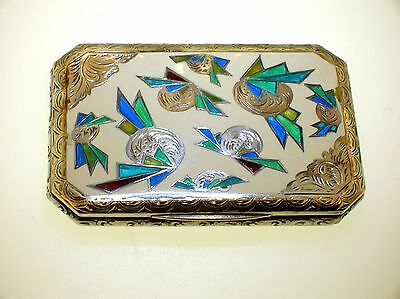 Art Deco Austrian Enameled Sterling Silver Card Case ~Exquisite Piece~Rare!!!!!!