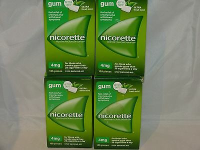 Nicorette Gum 4 Mg Fresh Mint 420 Piece
